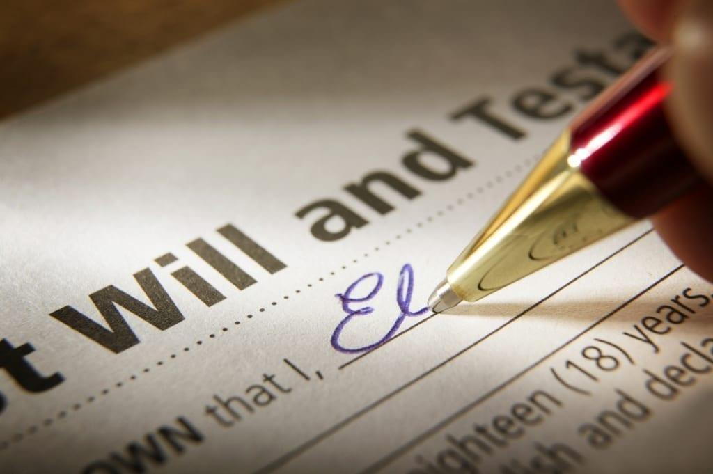 Passing away without a will