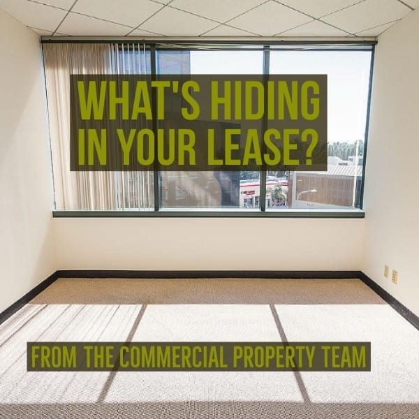 What's hiding in your lease?